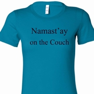 Namast'ay Home on the Couch Ladies Yoga Shirts