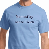Namast'ay Home on the Couch Mens Yoga Shirts