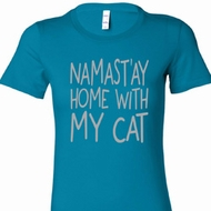 Namast'ay Home With My Cat Ladies Yoga Shirts