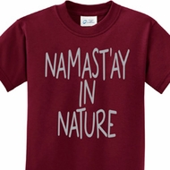Namast'ay in Nature Kids Yoga Shirts