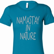 Namast'ay in Nature Ladies Yoga Shirts