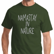 Namast'ay in Nature Mens Yoga Shirts