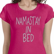 Namastay In Bed Ladies Yoga Shirts