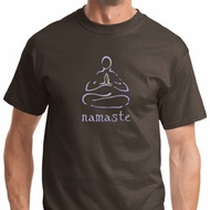 Namaste Lotus Pose Mens Yoga Shirts