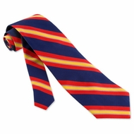 Navy Red Repp Stripe Tie Blue Silk Necktie Mens Patriotic Neck Tie