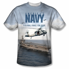 Navy Shirt Aircraft Carrier Sublimation Shirt