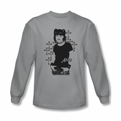 NCIS Shirt Abby Crosses Long Sleeve Silver Tee T-Shirt