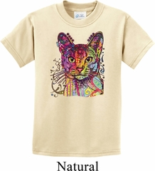 Neon Abyssinian Cat Kids Shirt