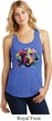 Neon Golden Retriever Ladies Racerback Tank Top
