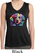 Neon Golden Retriever Ladies Sleeveless Moisture Wicking Shirt