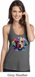 Neon Golden Retriever Ladies T-Back Tank Top