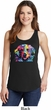 Neon Golden Retriever Ladies Tank Top