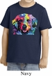Neon Golden Retriever Toddler Shirt