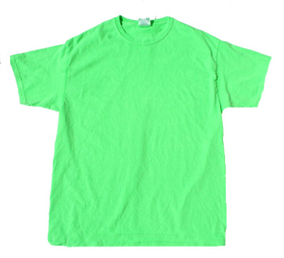 Neon Green Bright Colorful Adult Uni T Shirt Tee Shirt #2: neon green bright colorful adult uni t shirt tee shirt 2