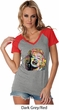 Neon Marilyn Monroe Ladies Contrast V-Neck Shirt