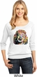 Neon Marilyn Monroe Ladies White Three Quarter Sleeve Shirt