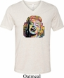 Neon Marilyn Monroe Mens Tri Blend V-neck Shirt