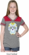Neon Sugar Skull Girls Football Shirt