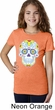 Neon Sugar Skull Girls Shirt
