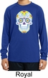 Neon Sugar Skull Kids Dry Wicking Long Sleeve Shirt