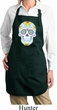 Neon Sugar Skull Ladies Full Length Apron with Pockets