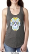 Neon Sugar Skull Ladies Ideal Tank Top