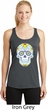 Neon Sugar Skull Ladies Moisture Wicking Racerback Tank Top