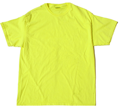 Neon yellow bright colorful adult t shirt tee shirt neon for Neon coloured t shirts