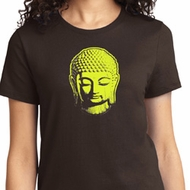 Neon Yellow Buddha Ladies Yoga Shirts
