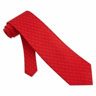 Never Up, Never In Tie Red Silk Necktie � Mens Sports Neck Tie