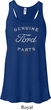 New Genuine Ford Parts Ladies Flowy Racerback Tanktop