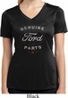 New Genuine Ford Parts Ladies Moisture Wicking V-neck Shirt