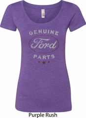 New Genuine Ford Parts Ladies Scoop Neck Shirt