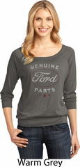 New Genuine Ford Parts Ladies Three Quarter Sleeve Scoop Neck Shirt