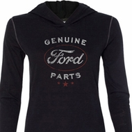 New Genuine Ford Parts Ladies Tri Blend Hoodie Shirt