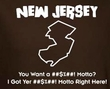 New Jersey NJ Funny T-shirt - Brown