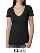 Next Level Ladies T-Shirt Cotton Deep V-Neck Tee Shirt
