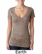 Next Level Ladies T-Shirt Poly/Cotton Burnout Deep V-Neck Tee Shirt