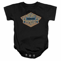 Night Ranger Baby Romper Logo Black Infant Babies Creeper