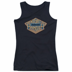 Night Ranger Juniors Tank Top Logo Black Tanktop