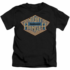 Night Ranger Kids Shirt Logo Black T-Shirt