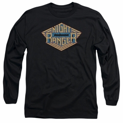 Night Ranger Long Sleeve Shirt Logo Black Tee T-Shirt