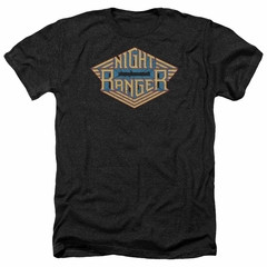 Night Ranger Shirt Logo Heather Black T-Shirt