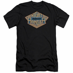 Night Ranger Slim Fit Shirt Logo Black T-Shirt