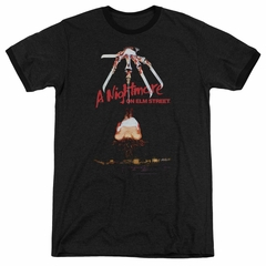 Nightmare On Elm Street Alternate Poster Black Ringer Shirt