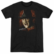 Nightmare On Elm Street Freddy Krueger Black Ringer Shirt
