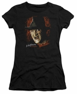 Nightmare On Elm Street Juniors Shirt Freddy Krueger Black T-Shirt