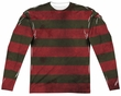 Nightmare On Elm Street Long Sleeve Freddy Sweater Sublimation Shirt Front/Back Print
