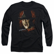 Nightmare On Elm Street Long Sleeve Shirt Freddy Krueger Black Tee T-Shirt