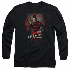 Nightmare On Elm Street Long Sleeve Shirt Springwood Slasher Black Tee T-Shirt